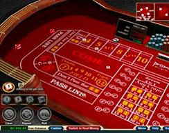 Online Red Craps Table