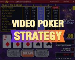 video poker strategy paytable