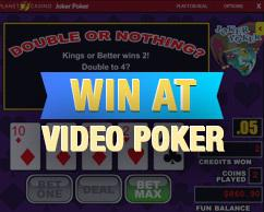 win at video poker game screen