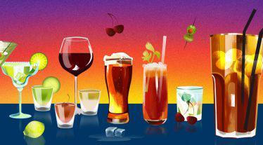 drinking and gambling