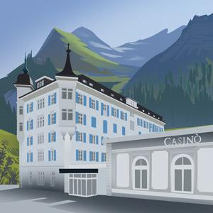 An illustration of St Moritz Casino