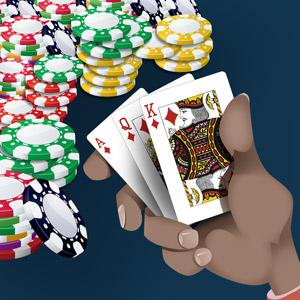 An Illustration of a poker hand