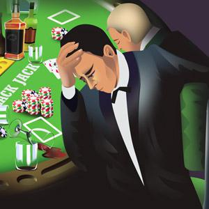 guys sitting at a blackjack table