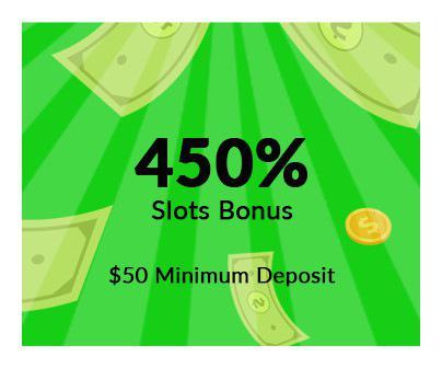 450% Slots bonus
