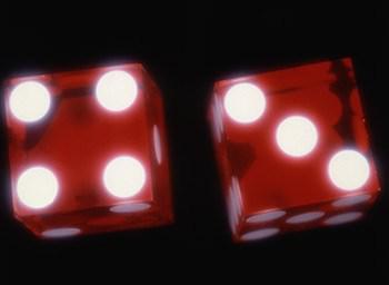 close-up of dice