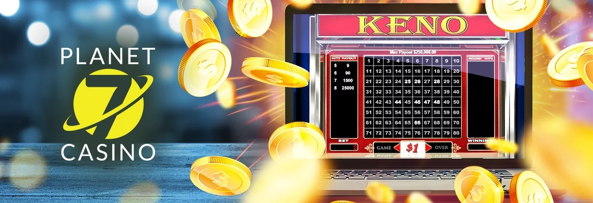 keno board on a mobile screen with dice, aces and chips