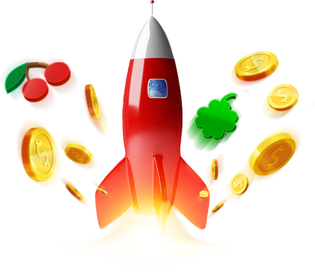 Rocket with exploding coins