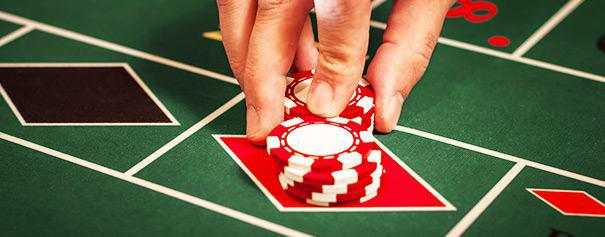Player put his chips on 'red' in a roulette table