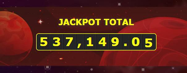 Jackpot figure on red background
