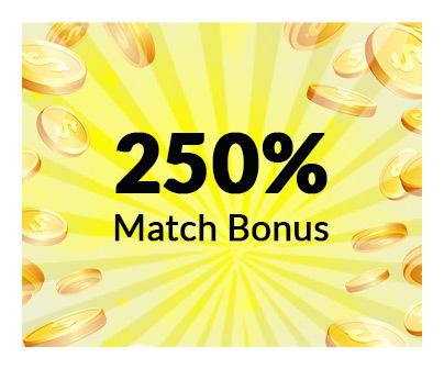 250% monthly bonus