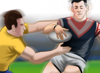 a clash of 2 rugby players