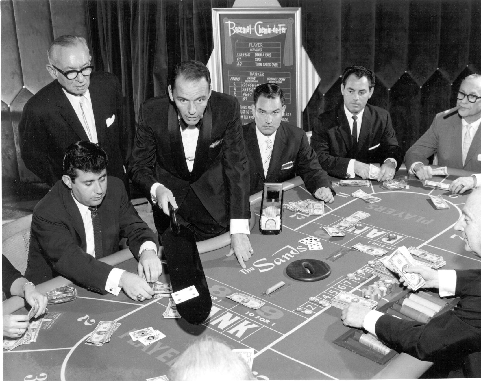 Frank Sinatra and Friends Playing Baccarat