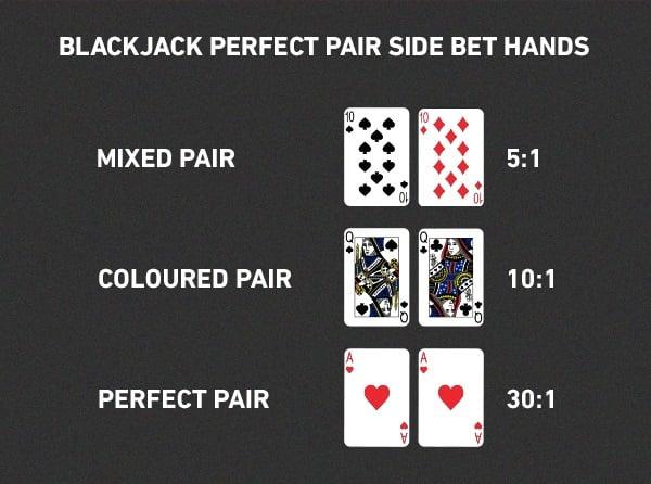 3 Types of Blackjack Side Bets