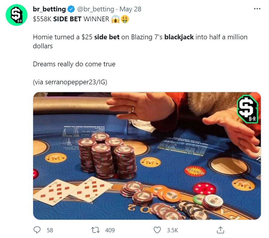 Tweet About Blackjack Side Bets